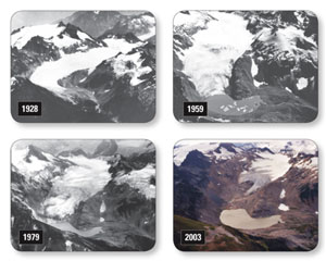 Glaciers melting
